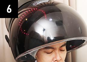 用臭氧辐射照来让头皮回復清爽,并使秀发更强健。